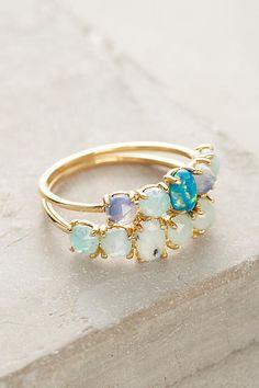Anthropologie Mermaid Ring Set