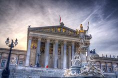 Parliament building on the Ringstrasse, Vienna