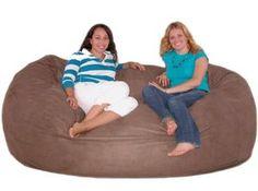 7-feet Xx-large Cinnabar Cozy Sack Foam Bean Bag Chair Love Seat