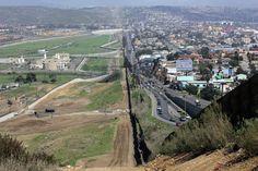 Border between USA and Mexico