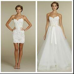 removable bottom wedding dress
