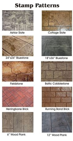 Stamped concrete brings the look of natural stone and other natural materials at. - Stamped concrete brings the look of natural stone and other natural materials at a fraction of the c - Stamped Concrete Colors, Colored Concrete Patio, Stamped Concrete Driveway, Diy Concrete Patio, Concrete Patio Designs, Concrete Driveways, Backyard Patio Designs, Stained Concrete, Diy Patio