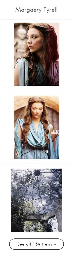 """""""Margaery Tyrell"""" by miumiu ❤ liked on Polyvore featuring natalie dormer, backgrounds, photos, images, pictures, pics, scenery, fairytales, crowns and jewelry"""