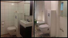 før og etter bad Toilet, Bathroom, Diy, House, Ideas, Bath Room, Bricolage, Home, Litter Box