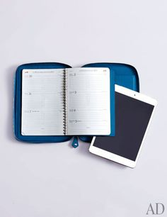 IPad Mini E-Zip calfskin case ($1,950) and agenda ($115) by Hermès