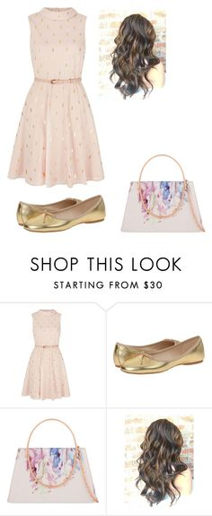 """""""Untitled #2167"""" by aliciabadrick ❤ liked on Polyvore featuring Yumi, Nine West and Ted Baker"""