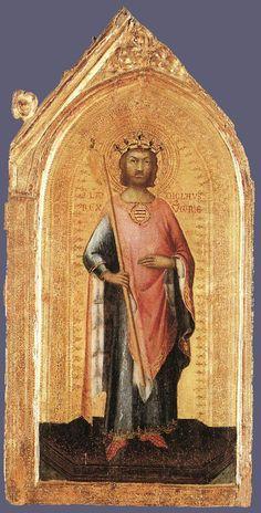SIMONE MARTINI (1285 -1344) - Saint Ladislaus, King of Hungary - 1326. Museo della Consolazione, Altomonte (Cosenza).