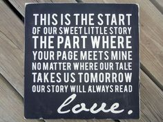 Love this quote...great wedding gift idea!