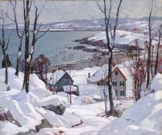 Aldro Thompson Hibbard (American, 1886-1972), Rockport in Winter, c. 1940. Oil on canvas, Smithsonian American Art Museum, Washington, D.C.