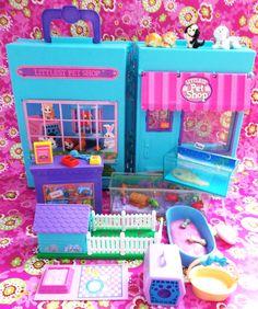 1990s Littlest Pet Shop Pet Store Playset with Accessory Sets - Vintage Toys 1992. $55.00, via Etsy.
