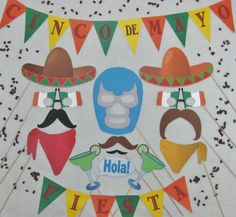 PDF Cinco de Mayo photo booth by chelawilliams on Etsy