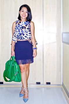 GIVENCHY Nightingale bag | VALENTINO Rockstud heels | CAMEO THE LABEL CMEO COLLECTIVE top | H and M fringe skirt | instagram: @quennandher | https://instagram.com/quennandher