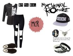 """""""MCR"""" by lunalynch13 ❤ liked on Polyvore featuring WithChic, Vans and Lipsy"""