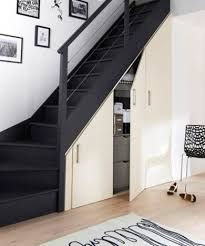 Collection closet fittings attic and under stairs - model Déco . Staircase Storage, Stair Storage, Space Under Stairs, House Stairs, Stairways, Home Deco, Interior Design Living Room, New Homes, House Design