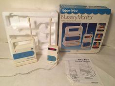 Fisher Price Vintage 1989 Nursery Baby Monitor Model 1510 #FisherPrice