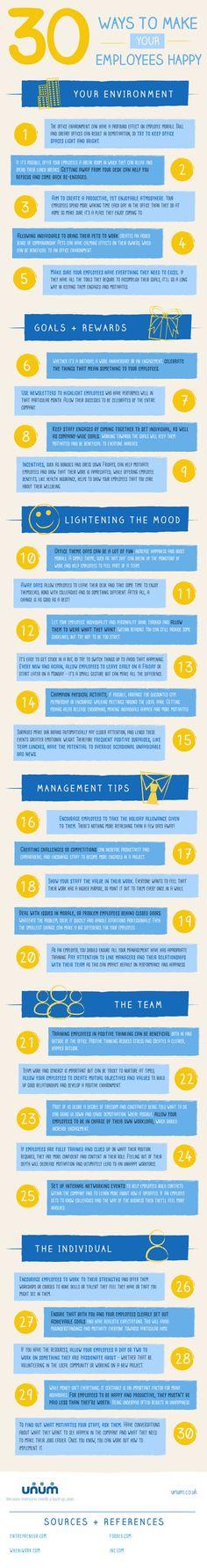30 ways to make your employees happy - Unum