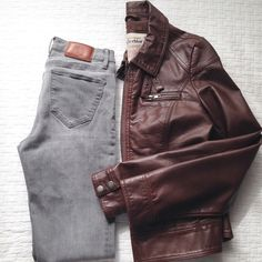 Brown Leather Jacket♡ Worn once and in great condition. Not my style but fits nicely and looks high quality. Has elbow patches and fancy neck buckles. Chocolate brown color. Faux leather Jackets & Coats