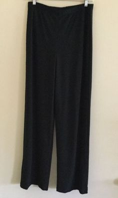 Frank Lyman NEW Women's Sz 8 Black Knit Pull On Elasticized Waist Pants Stretch  | eBay