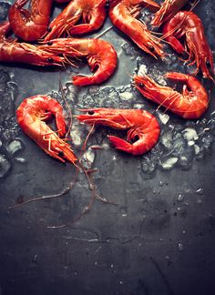Gorgeous prawns photographed by What Katie Ate