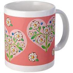Valentine Heart Mug > EVERYTHING Pretty Floral Heart > Patricia Shea Designs