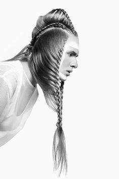 Code by 1 Creative Team Cool Braid Hairstyles, Creative Hairstyles, Up Hairstyles, Avant Garde Hair, Photo D Art, Extreme Hair, Editorial Hair, Hair Reference, Fantasy Hair