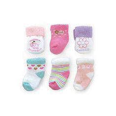 "Carter's Girls 6 Pack Terry Socks (Newborn) - Carters - Babies ""R"" Us"