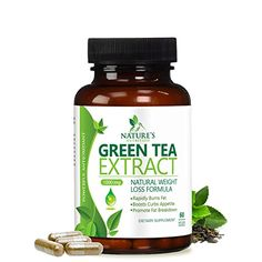 Green Tea Extract Supplement EGCG for Healthy Weight Loss Natural Fat Burner Boosts Metabolism Promotes Healthy Heart Antioxidant Caffeine Source for Energy Organic Non-GMO 60 Capsules Green Tea For Weight Loss, Weight Loss Tea, Weight Loss Meal Plan, Fat Burning Pills, Fat Burning Foods, Best Weight Loss Supplement, Weight Loss Supplements, Diet Supplements, Healthy Diet Recipes