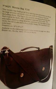 Vintage Coach Tan Leather Musette Carrier Bag Messenger Briefcase | eBay
