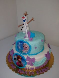 Elsa cake and Olaf