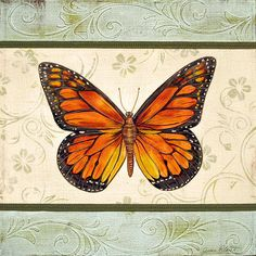 Lovely Butterfly-2 by Jean Plout - Lovely Butterfly-2 Painting - Lovely Butterfly-2 Fine Art Prints and Posters for Sale