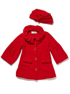 Widgeon Flower Collar Fleece Coat & Hat