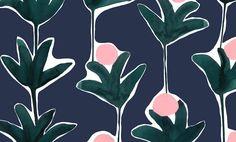 The Print-Focused Textiles of Cassie Byrnes Textiles, Textile Patterns, Print Patterns, Fun Patterns, Surface Pattern Design, Pattern Art, Free Pattern, Floral Artwork, Floral Prints