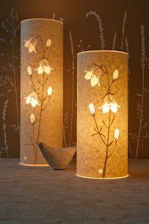 Mama's Style: Hannah Nunn's Paper Cut Lamps