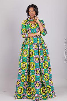 House Of Sarah 14: Robe Penja Maxi Cette robe est parfaite pour vos sorties et peut etre accompagne d'un petit blousin ou une veste pendant l'hiver. Elle vous sera expediee par courier recommande. Le delai d'expedition varie entre 1-2 jours maximum. cette robe est disponible en tailles 38 - 48.