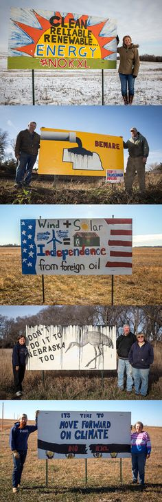Make your own climate billboard! These Nebraska landowners with Bold Nebraska hand made billboard signs protesting the KXL pipeline. http://boldnebraska.org