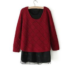 Forever Autumn Knitwear Red