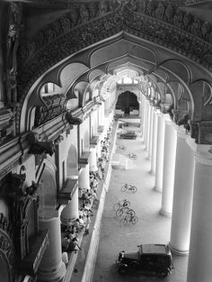 A view of the ornate art and architecture of a building in Chennai, India, 1948. Photograph by Volkmar Wentzel, National Geographic Creative