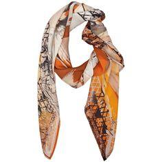 JUMA Parrots silk scarf - Polyvore
