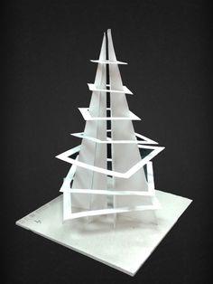 макетирование из бумаги рельеф - Поиск в Google Conceptual Model Architecture, Architecture Concept Drawings, Paper Architecture, Futuristic Architecture, Architecture Design, Arch Model, Abstract Sculpture, Design Model, Geometric Shapes