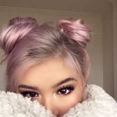 Jul 2018 - Our selection of covetable locks for hair inspiration! See more ideas about Hair inspiration, Long hair styles and Hair. Hair Color Pink, Hair Colors, Greyish Purple Hair, Metallic Hair Color, Hair Goals Color, Pastel Pink Hair, Rose Gold Hair, Dusty Rose Hair, Silver Hair