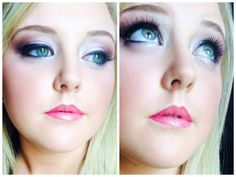 Perfect pink and taupe smokey for bride by Ashlee Rice.