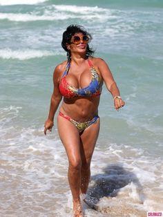 Bikini-Clad 'Mob Wives' Star Big Ang Struts Her Stuff in Miami Celebuzz! Big Ang, Mob Wives, Vanessa Williams, Bikini Clad, Dolly Parton, Chris Brown, The Struts, Older Women, Bikinis