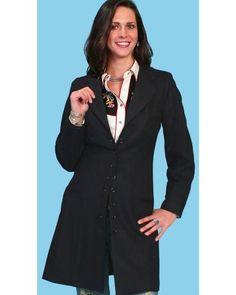 Women's Scully Wool Victorian Steampunk  Frock Coat $219.99