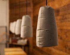 Raw unvarnished Zementa lamps by Pakamoko Concrete Light, Concrete Cement, Concrete Crafts, Cement Design, Beton Design, Natural Wood Furniture, Furniture Wax, Lampshades, Lamp Light