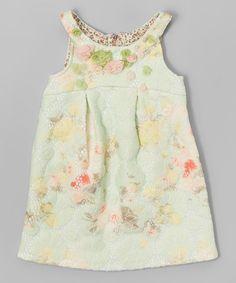 Another great find on #zulily! Sage Floral Dress - Infant & Girls #zulilyfinds