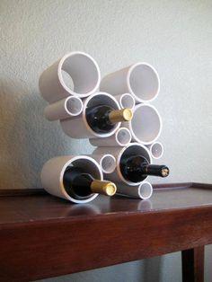 porta vinho de cano pvc