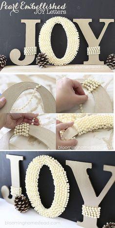 DIY Pearl Letters Tutorial