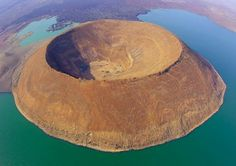 Nabiyotum Crater is located in the south of Lake Turkana in Kenya - the world's largest alkaline lake.