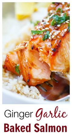 Ginger Garlic Baked Salmon – the best and easiest salmon recipe ever ...