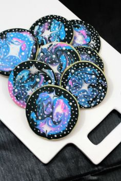 These.Are.So.Cool. Star Wars Galaxy Cookies.And they are fun to make because you basically get to make a weird mess and are not required to have any pre-cookie0-design expertise and they will still turn out well! That's the beauty of making a fun, edible, themed treat. So impress your family...